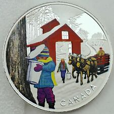 Canada 2017 $10 Iconic Canada: Sugar Shack, 1/2 oz. Pure Silver Color Proof