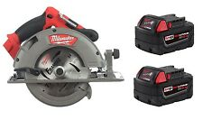 "Milwaukee M18 FUEL 18V Brushless 7-1/4"" Circular Saw 2731-20 + TWO 48-11-1850"