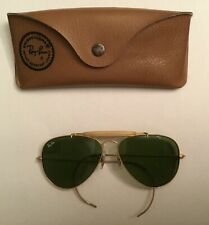 VINTAGE 58[]14MM B&L RAY BAN MADE IN USA OUTDOORSMAN AVIATOR SUNGLASSES