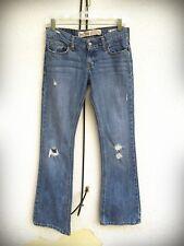 HOLLISTER CALI FLARE Size 1 Short Destroyed Hippie Boho Denim Jeans