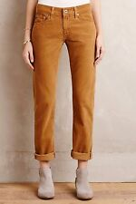 NWT SZ 25 ANTHROPOLOGIE AG NOLAN CORDS PANTS ADRIANO GOLDSCHMIED RELAXED SLIM 0