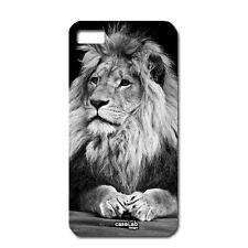 CUSTODIA COVER CASE LEONE LION IN BIANCO E NERO ANIMAL PER iPHONE 5 5S S
