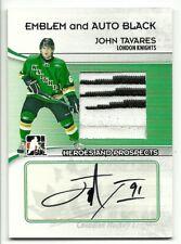 2009-10 ITG JOHN TAVARES EMBLEM & AUTO BLACK /6