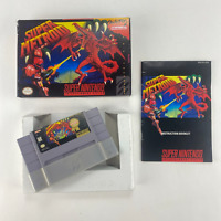 Super Metroid (Super Nintendo SNES, 1994) SNES Complete in Box CIB Box Manual