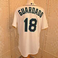 Eddie Guardado Signed Jersey Authentic Mariners Collection Sz 48 Bonus Pendant