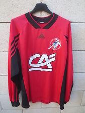 VINTAGE Maillot EN AVANT GUINGAMP porté n°4 ADIDAS match worn shirt U15 football