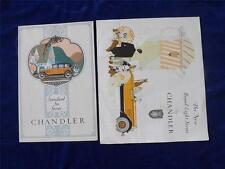 CHANDLER CLEVELAND MOTORS SALES BROCHURES STANDARD SIX & ROYAL EIGHT SERIES
