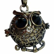 Essential Oil Diffuser Necklace perfume aromatherapy locket 7 lava stone owl U.S