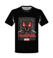 Marvel Black Deadpool Funko Small T-Shirt Pop Style New Black Collector Comics