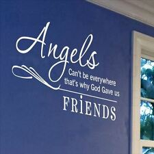 Huhome PVC Wall Stickers Wallpaper English Angels Friends Friendship living room