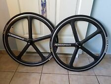 Aerospoke 700c Tandem Racing Wheels Bike Bicycle Wheel Set w/Thick-slick tires