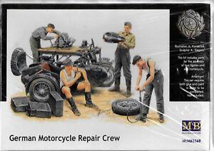 Master Box WWII German Motorcycle Repair Crew, Figures in 1/35 60 ST