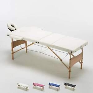 Table de massage portable pliante en bois 3 Zone 215 cm