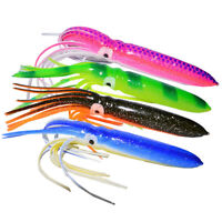 2PCS Soft Octopus Skirt Lure Saltwater Sea Fishing Squids Bait for Tuna