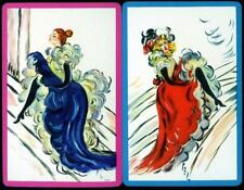 BEAUTIFUL VINTAGE LADY DANCING  SWAP CARDS IN EXCELLENT CONDITION
