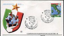 ITALY 1990 NAPLES SOCCER CLUB/ITALIAN CHAMP/MAP/EMBLEM/MARADONA/FOOTBALL   FDC