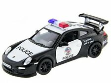 "5"" Kinsmart Diecast Porsche 911 GT3 RS Police Car Diecast Model Toy 1:36 Scale"