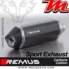 Ligne complète échappement Remus Sport Carbone sans Cat Vespa GTS 125 (2017+)