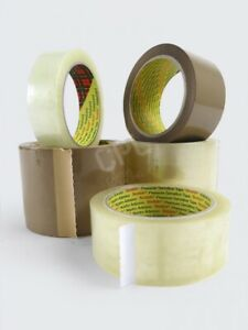 3M Clear hotmelt scotchtape packing/parcel tape FREE NEXT DAY DELIVERY