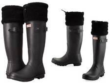 Hunter Limited Edition Original Shearling Fur-Cuff Rain Boots Very Warm & Comfy