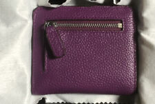 Lavemi RFID Blocking Micro Clutch Zip Wallet Pebble Purple Leather NEW