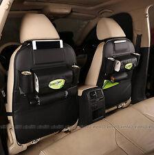 Car Rear Seat Organizer iPad Drink Holder Bag Storage Multi-Pocket PU Leather