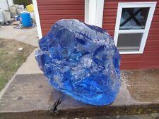 New listing Glass Rock Slag Pretty Clear Sapphire Blue 14.2 lb Ee56 Landscaping Aquarium