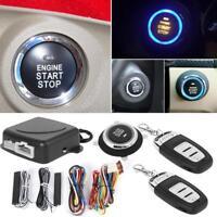 9Pcs Car Keyless Entry Engine Start Alarm System Push Button Remote Starter Kit