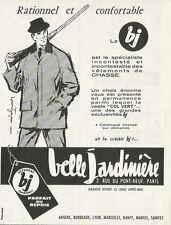 W0867 Vétements de chasse Belle Jardinière - Pubblicità 1961 - Advertising