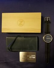 ZELOS CHROMA 2 LIMITED EDITION 119/200 CHROMA STEEL W/ BLACK DIAL AUTOMATIC MEN'