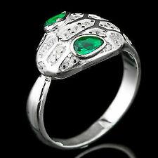 925 Sterling Silver Fancy Cubic Zirconia Ring Size-8