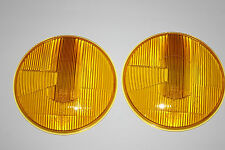 VW BUG BUS T2 FRIDOLIN KÜBEL TYP181 1600 TYP3 SET YELLOW RHD HEADLIGHT LENSES
