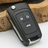 3 Buttons Remote Folding Car Fob Key Shell Case Cover Fit Chevrolet Cruze Hot