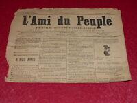 [PRESSE XIXe] MAXIME LISBONNE / L'AMI DU PEUPLE # 5  jEUDI 11 DEC 1884 Rare!