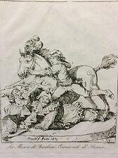 Bartolomeo PINELLI (1781-1835) Roma 1834 estampe Italie XIXe h