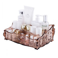 Deluxe Cosmetic Organizer Clear Acrylic Makeup Holder Case Box Jewelry Storage