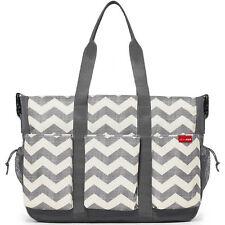 Skip Hop Grey Chevron Duo Double Signature Baby Changing Bag See Descriptio