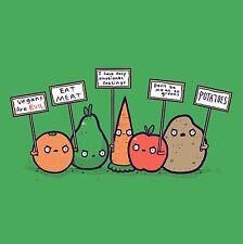 Protesting Vegans Vegetables Signs Protesting Against Vegan Vinyl Sticker Bumper
