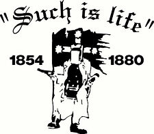 """Ned Kelly """"Such Is Life"""", Windscreen, Car, Ute, Truck Sticker Decal, 200 x 175mm"""