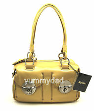 MIMCO MINI TURNLOCK ZIP TOP BAG IN PATENT DAISY BNWT $425
