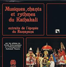 LP INDIA MUSIQUES CHANTS RYTHMES DU KATHAKALI (RAMAYANA)