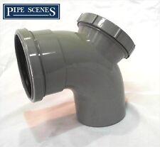 """Soil Pipe Access Bend Inspection Eye 4"""" 110mm Elbow Grey Single Socket"""