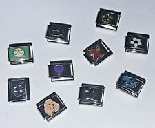 10 Mixed Flower Heart Italian Charm Bundle Lot Fits Classic Bracelets