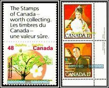 3x CANADA 1991 McINTOSH APPLE 1980 MUSICIANS ALBANI FV 82 CENT STAMP CORNER LOT