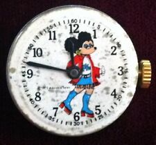 """EXTREMELY RARE HTF 1973 """"ADORABLE SALES"""" MINNIE MOUSE WATCH FACE & MOVEMENT ONLY"""