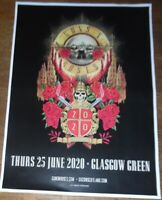Guns N' Roses - live music show june 2020 promotional tour concert gig poster