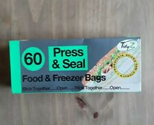 60 Tidyz Press And Seal Food &freezer Bags