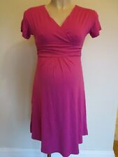 PINK MATERNITY CLASSIC SHORT SLEEVED TEA DRESS SIZE M UK 10 BNWT
