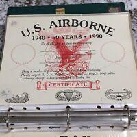 U.S. AIRBORNE CERTIFICATE - 50 YEARS - 1940-1990 - Vintage