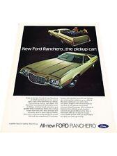1972 Ford Ranchero Pickup Truck color - Vintage Advertisement Car Print Ad J416